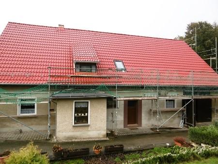 2015: Dacheindeckung WH in Vollmershain