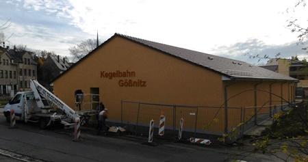 2015/2016: Neubau Kegelbahn Gößnitz