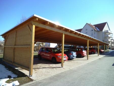 Errichtungeines Carports für Dienstwagen in Schmölln