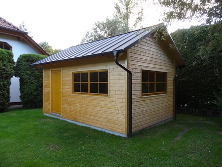 2014: Errichtung eines Mehrzweck-Gartenhauses in Paditz